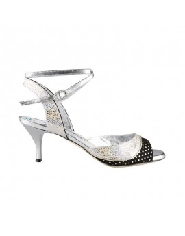 N1CL Argento Cangiante Heel 6 cm