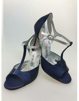 N11 Blu Argento Heel 9 Cm